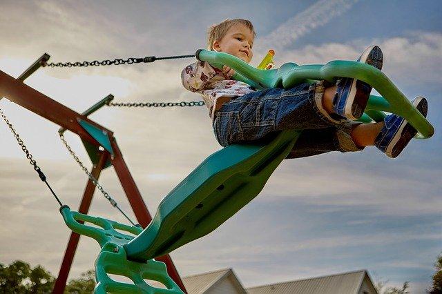 Child Playground Swing Set